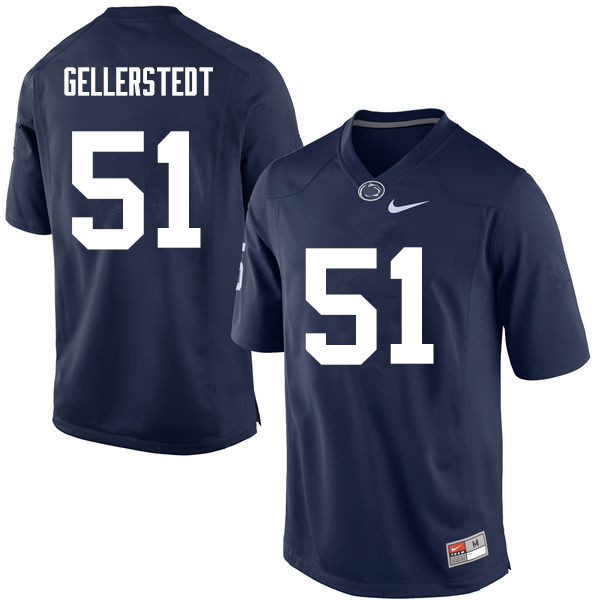 Men Penn State Nittany Lions #51 Alex Gellerstedt College Football Jerseys-Navy