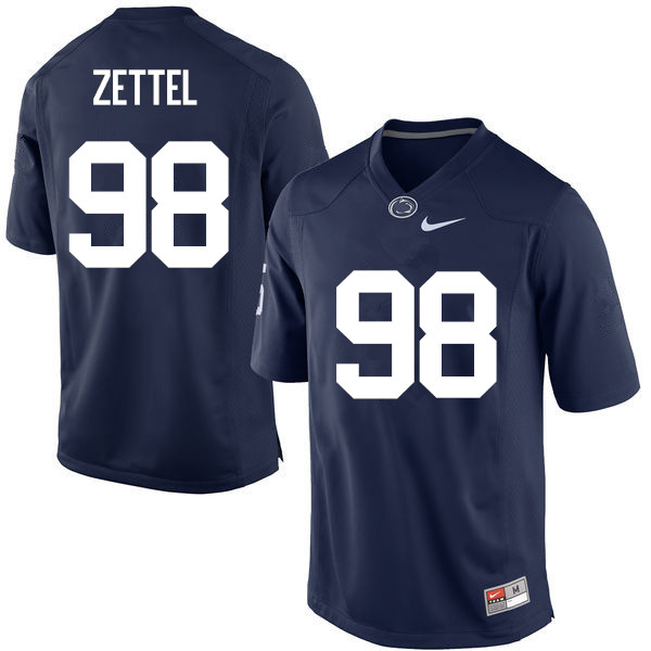 Men Penn State Nittany Lions #98 Anthony Zettel College Football Jerseys-Navy