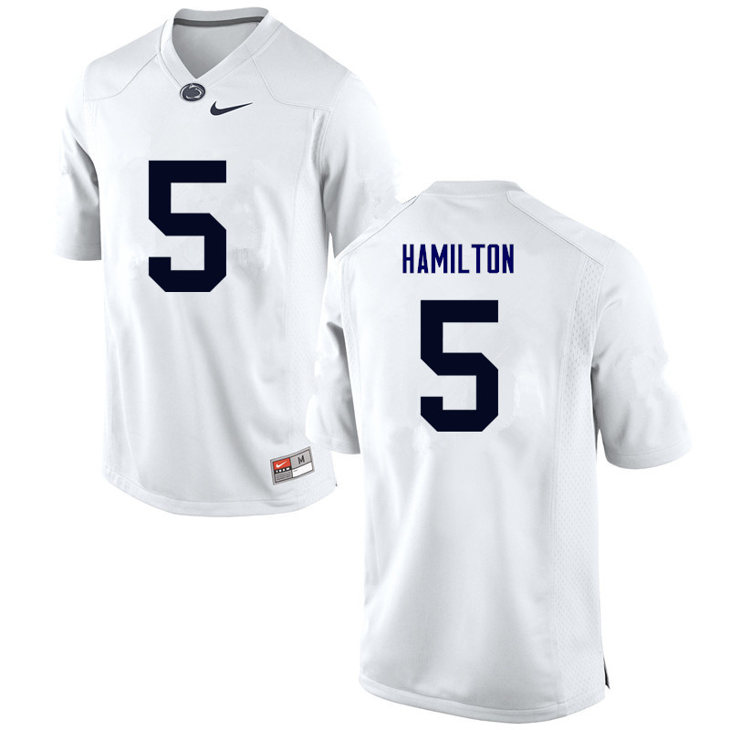 Men Penn State Nittany Lions #5 DaeSean Hamilton College Football Jerseys-White