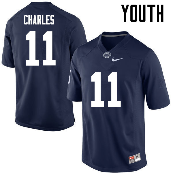 Youth Penn State Nittany Lions #11 Irvin Charles College Football Jerseys-Navy