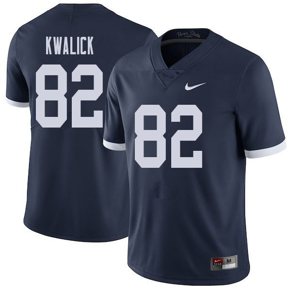 Men #82 Ted Kwalick Penn State Nittany Lions College Throwback Football Jerseys Sale-Navy
